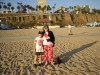 With nephew Michael by the Pacific