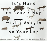 IT'S HARD TO READ A MAP WITH A BEAGLE ON YOUR LAP
